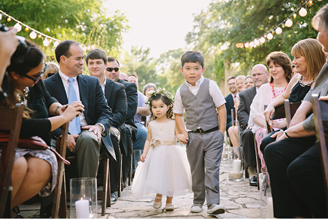 Kara & Justin's Wedding | Julie Wilhite Photography | Austin Wildflower Center | Austin Wedding Photographer | Flower girl and Ring bearer | via juliewilhite.com